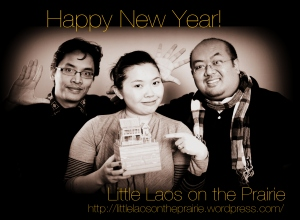 Bryan, Chanida, and Danny wishing everyone a Happy New Year!