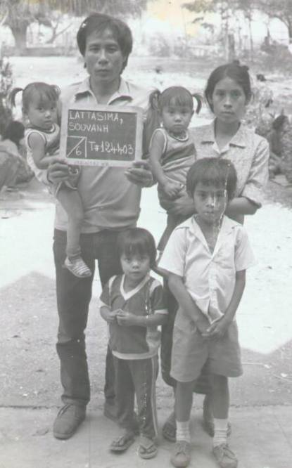 Lattisima Family, Ubon Refugee Camp, 1980s