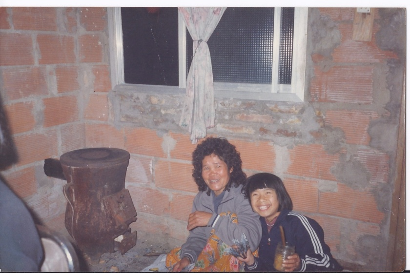 Monica and her mother in Argentina