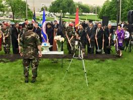 Breaking ground for Lao-Hmong Memorial, Saint Paul, MN