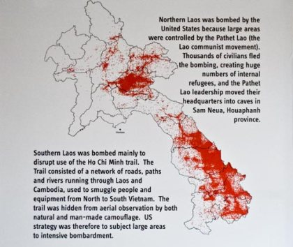 The bombing campaign in Laos by US