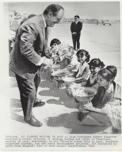 Hubert Humphrey in Laos, 1966