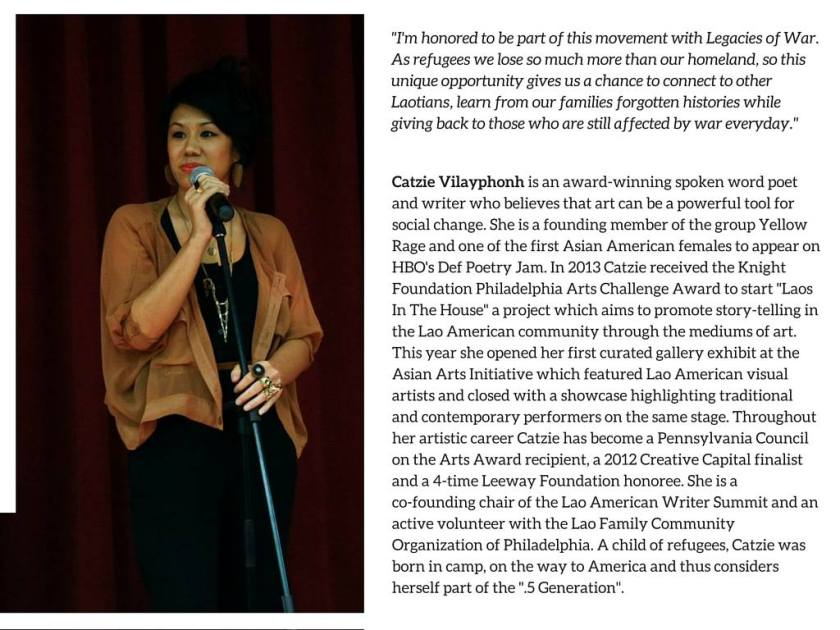 Catzie Vilayphonh, Emcee for Laos in NYC